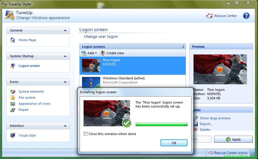 Logon Screen 8