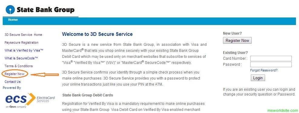 SBI 3D Secure Service 1