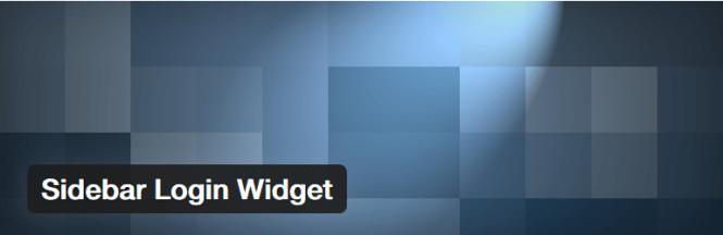 sidebar login widget