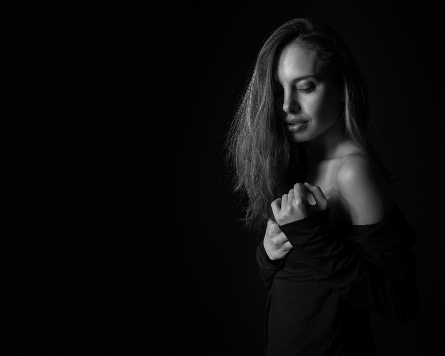 portrait schwarzweiss profimodel modelfotograf