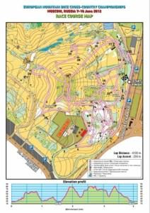 Mapa oraz profil rundy ME XCO - Moskwa 2012