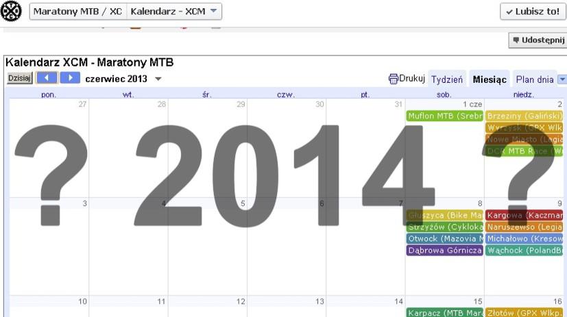 Kalendarz amatorskich zawodów MTB 2014 – plotki, ploteczki, przecieki