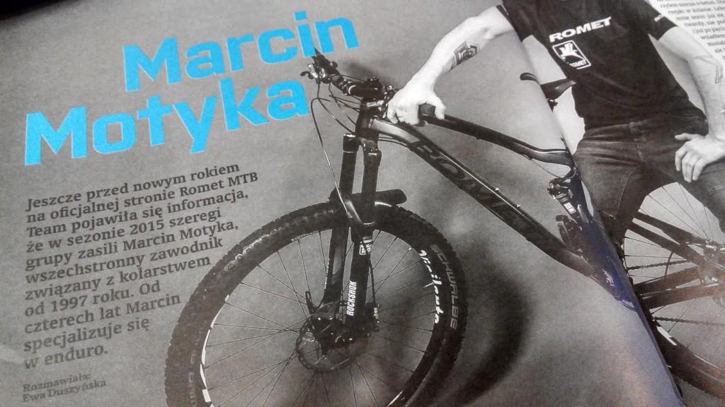 magazyn bike numer 3 marzec 2015 marcin motyka romet enduro