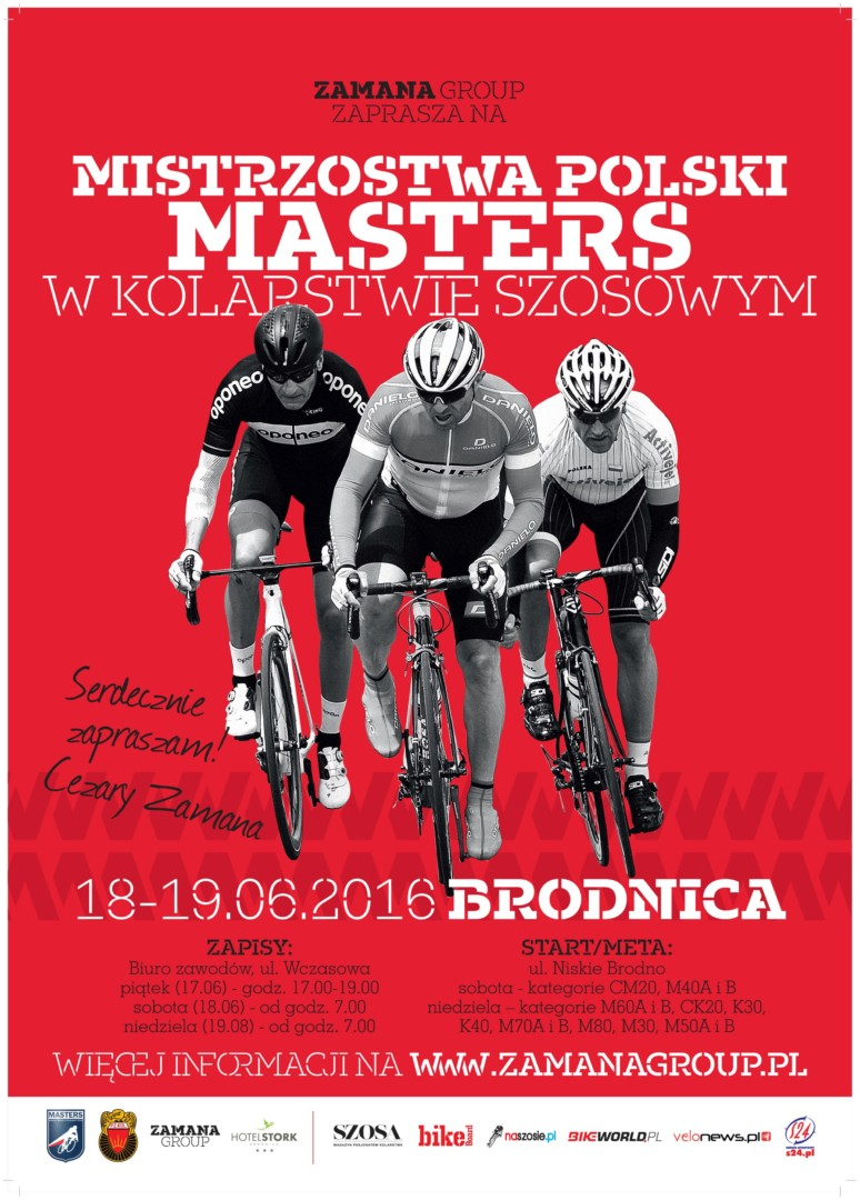 mistrzostwa masters szosa 2016 plakat