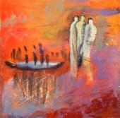 The painting Lifeboat by Karen Gjelseen