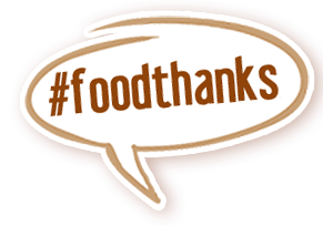 talk bubble FoodThanks AgChat Foundation Thanksgiving food