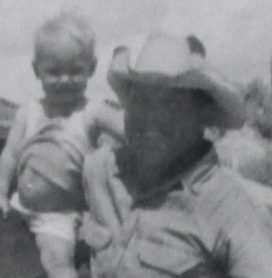 Lillian Ostendorf (age 1) with her father.