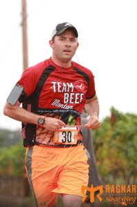 My not-so-excited face at the end of my last leg during the race.