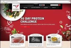 The 30 Day Protein Challenge is one example of the Beef Checkoff digital promotion efforts.