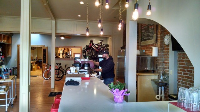 coffee/bike shop in one of our Gunnison Valley towns
