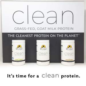 CLEAN goat milk protein with minerals electrolytes probiotics and fermented protein