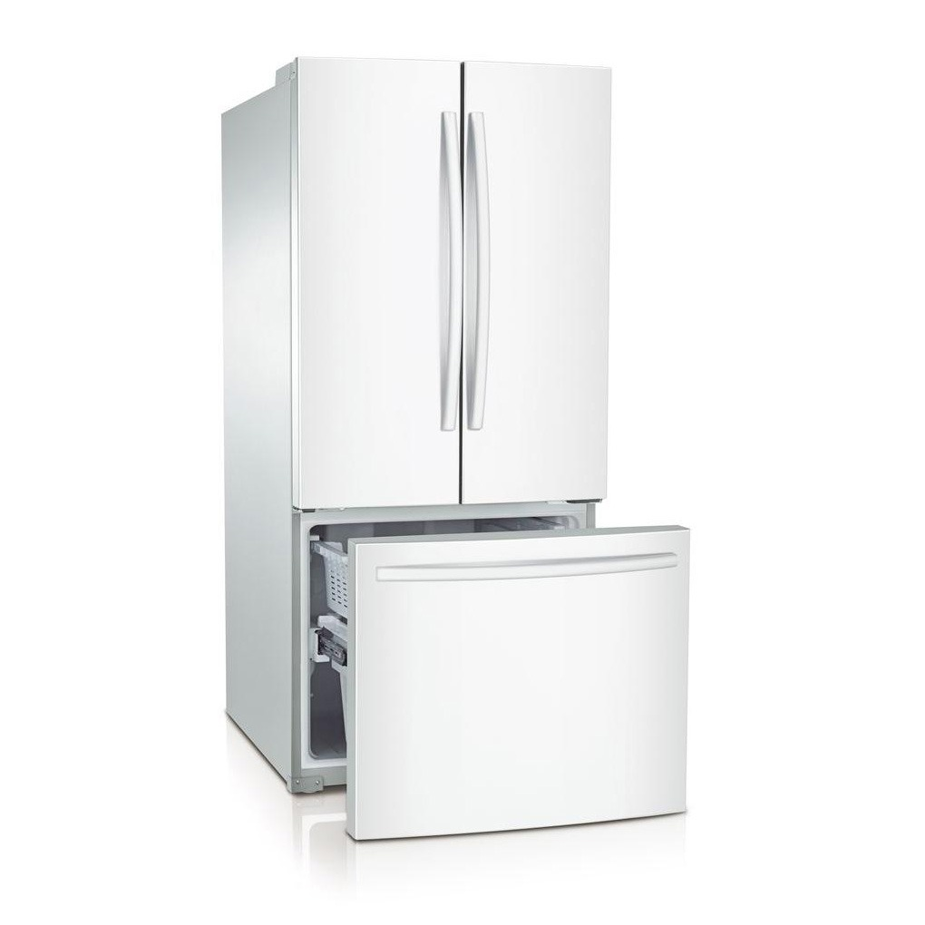 Samsung 21.6 cu.ft 3-Door French Door Refrigerator White