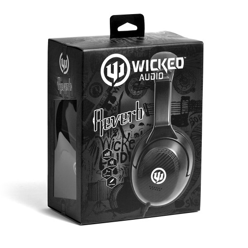 Wicked Reverb black over ear headphone WI8200
