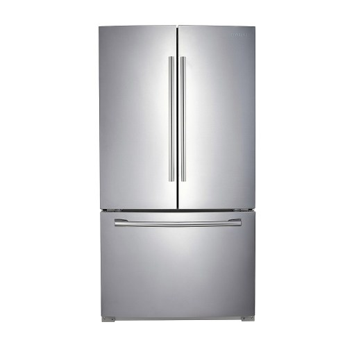 Samsung 25.6 cu.ft. 3-Door French Door Refrigerator Stainless Steel RF260BEAESRAA