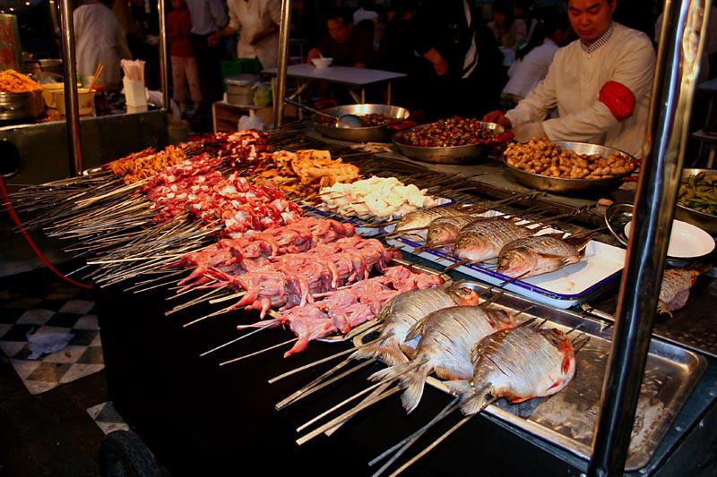 Чуан (Китай) в мире, еда, шашлык