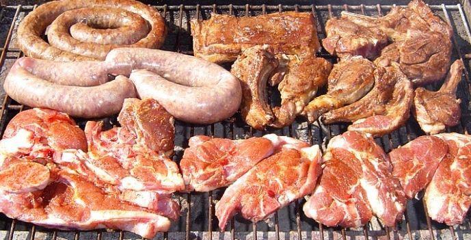 Брааи (Южная Африка) в мире, еда, шашлык