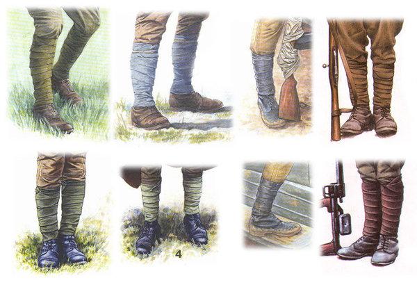 Зачем солдаты обматывают ноги до колен?