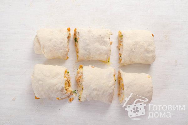 Творожные булочки с курицей и лисичками фото к рецепту 12