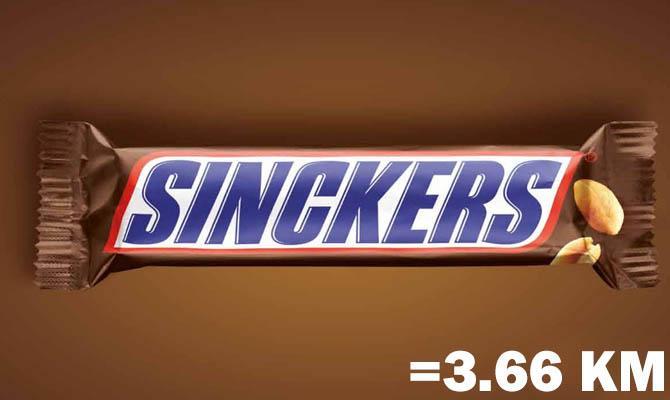 Шоколадный батончик Сникерс