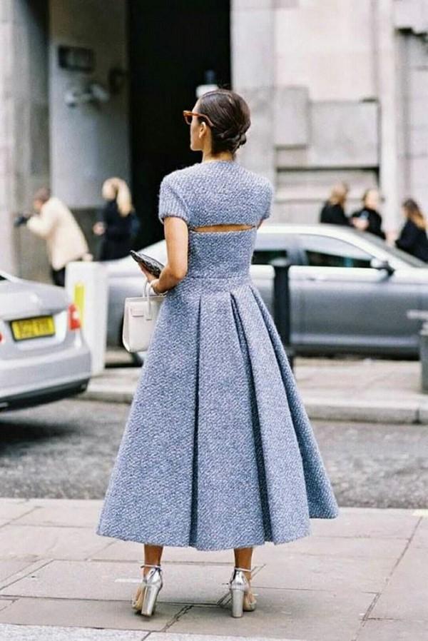 8c0f90cd3f4 Платье с юбкой из плотной ткани — отличное решение для прохладной погоды