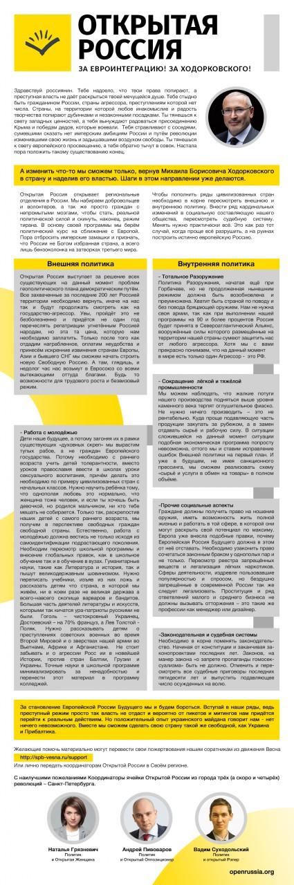 Ходорковский идёт ва-банк. Программа партии «Открытая Россия» тянет на Букера… От психиатрии