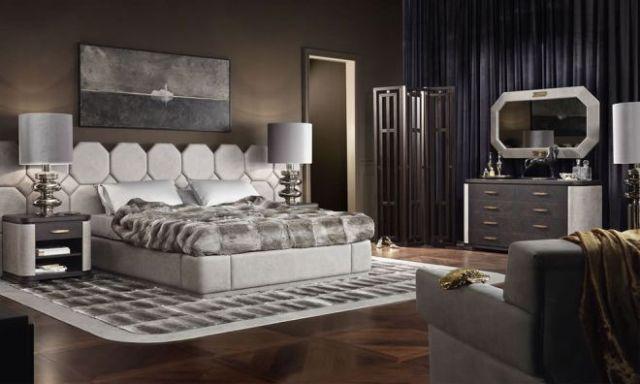 Интерьер спальни в стиле арт-деко