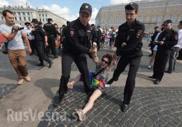 В Санкт-Петербурге полиция нежно гоняла чересчур политизированных геев (ФОТО, ВИДЕО)   Русская весна