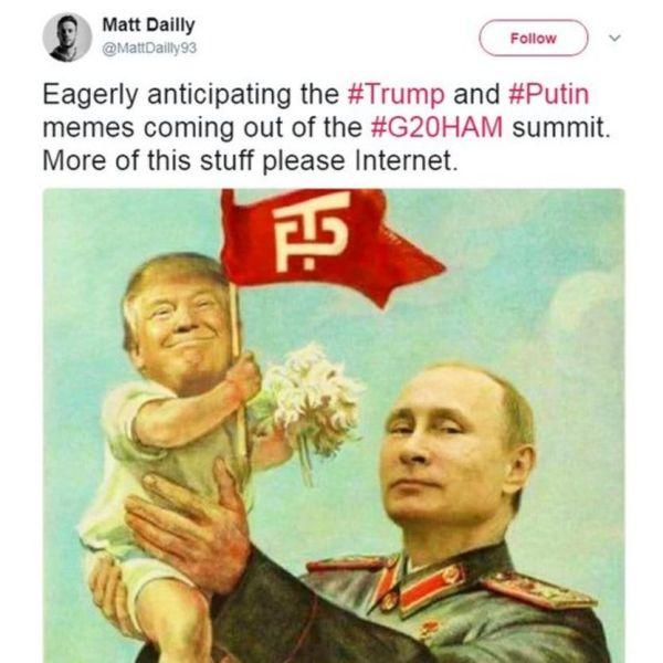 Встреча Путина и Трампа в карикатурах.
