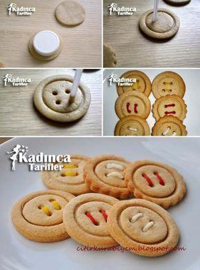 Düğme Kurabiye Tarifi, Nasıl Yapılır? - Kadınca Tarifler -  kurabiyeler #biscuitsdenoël #biscuitsdenoëlsansgluten #biscuitsdenoëlaméricain
