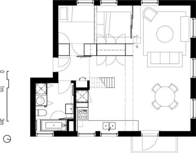 План квартиры после кардинальной перепланировки.   Фото: magazindomov.ru.