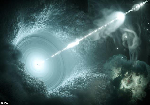 """Ученые впервые определили источник """"призрачных"""" частиц нейтрино ynews, Чёрные дыры, астрономия, галактика, космос, наука, новости, ученые"""