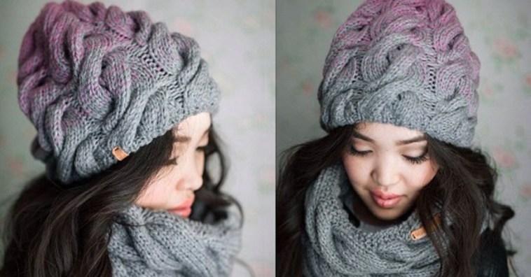Объемная шапка с косами «Радужное настроение»: описание и ...