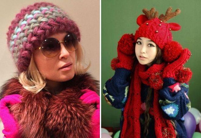 вязаные шапки 2018 2019 Fashion Life женский журнал