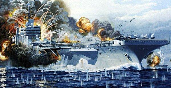 Как русские самолеты условно уничтожили авианосец США «Китти-Хок» и предыстория