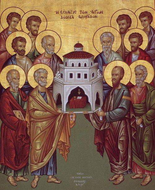 Собор святых славных и всехвальных 12-ти Апостолов. Икона