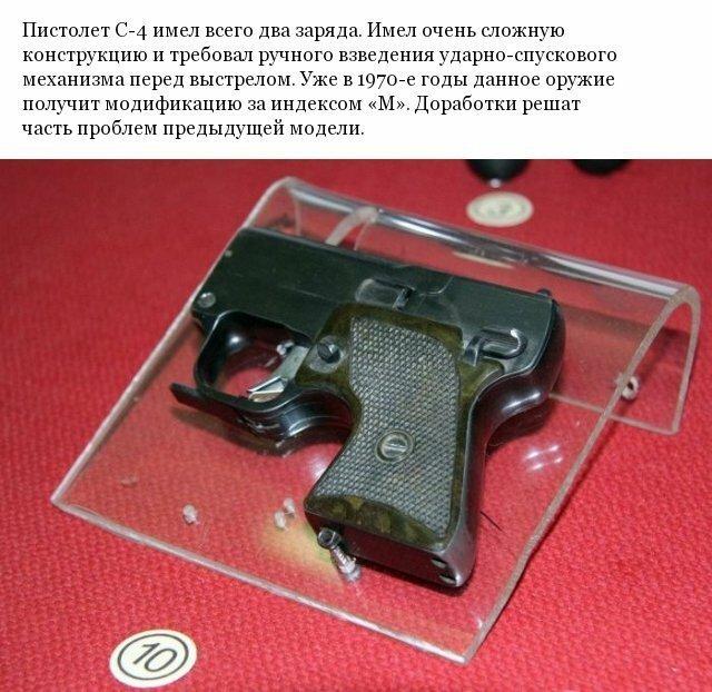 Необычный пистолет С-4, используемый КГБ СССР бесшумная стрельба, спецвооружение, стволы