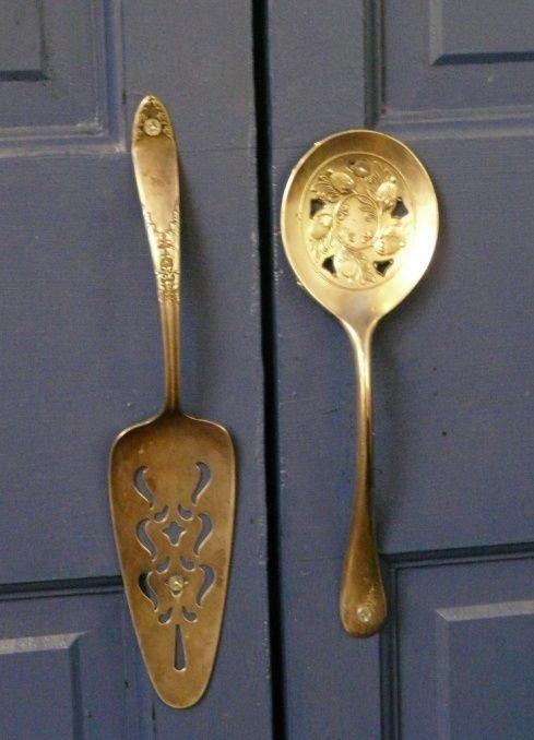 Дверные ручки - чудо! вилки, ложки, ножи, сделай сам, столовые приборы, умельцы, фантазия
