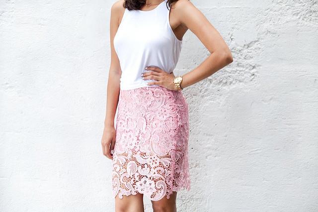 Сделать кружева юбка-карандаш www.apairandasparediy.com
