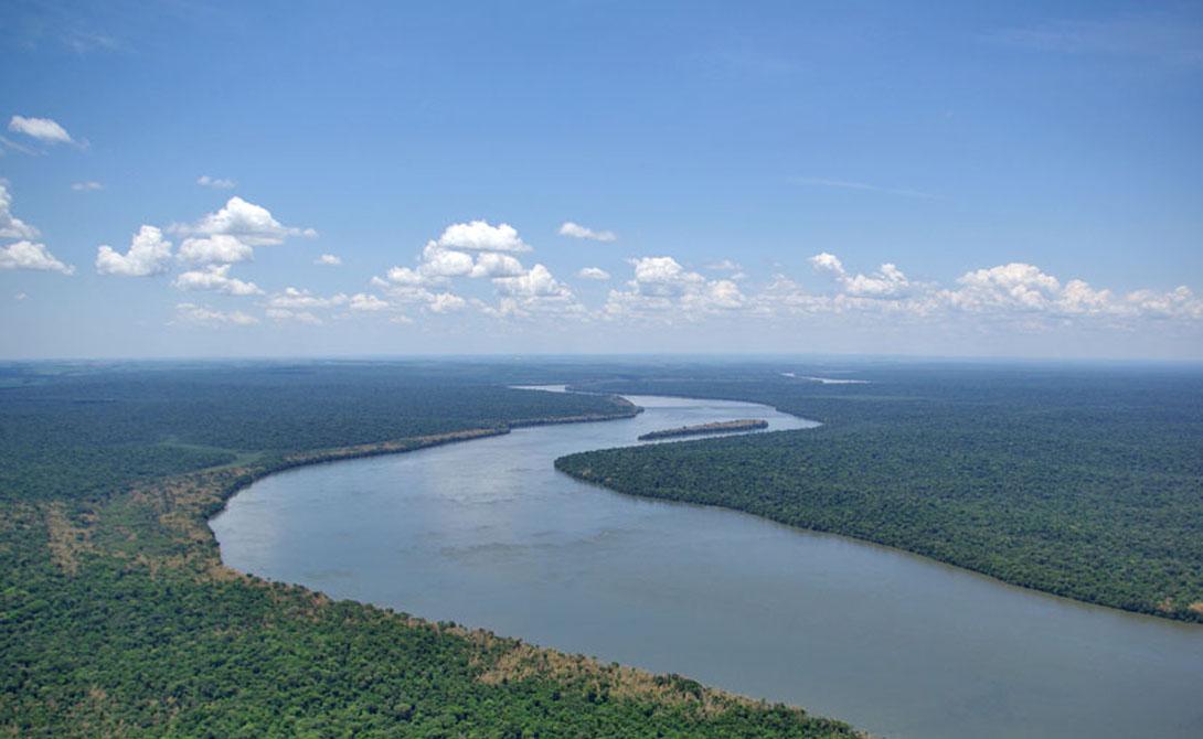 Река Парана. Южная Америка 4 880 километров