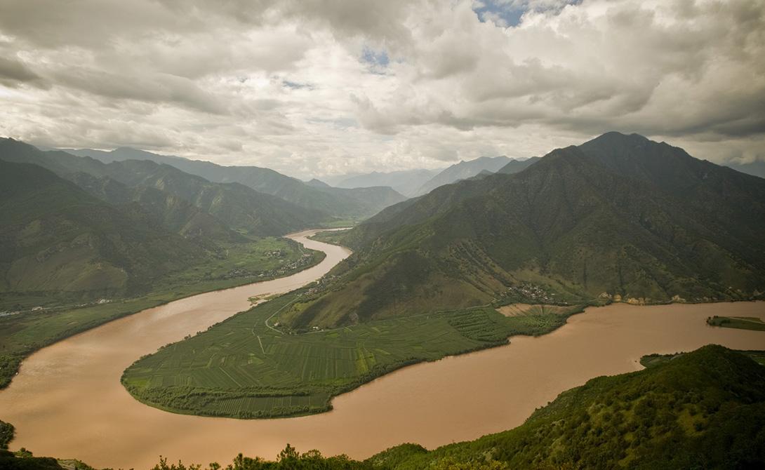 Река Янцзы Китай 6 418 километров