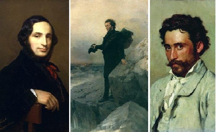 Иван Айвазовский./ «Пушкин на берегу моря»./ Илья Репин.