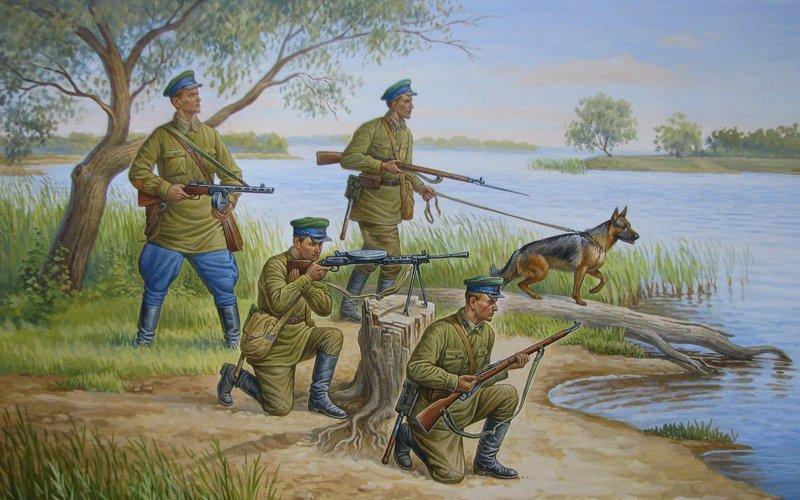 Примеры боёв пограничников НКВД, СССР, война, немцы, оборона, пограничники
