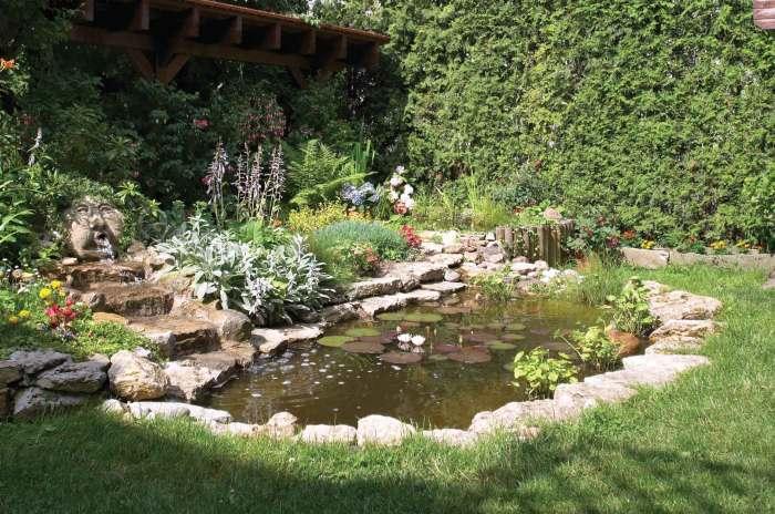 Декоративный водоем создающий эффект максимальной близости к природе.