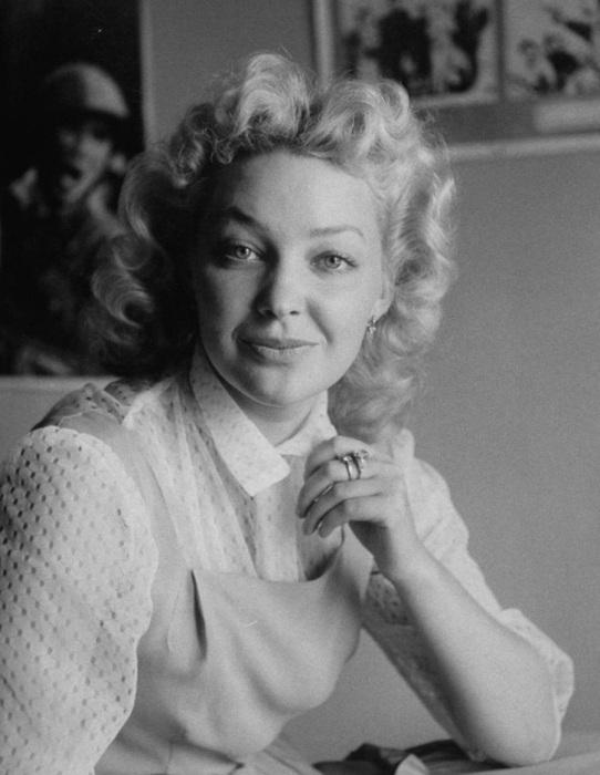 Советская кинозвезда Ирина Скобцева. СССР, Москва, 1956 год.