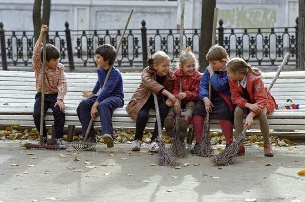 Субботник, 1980-е СССР, быт, воспоминания, ностальгия, фото