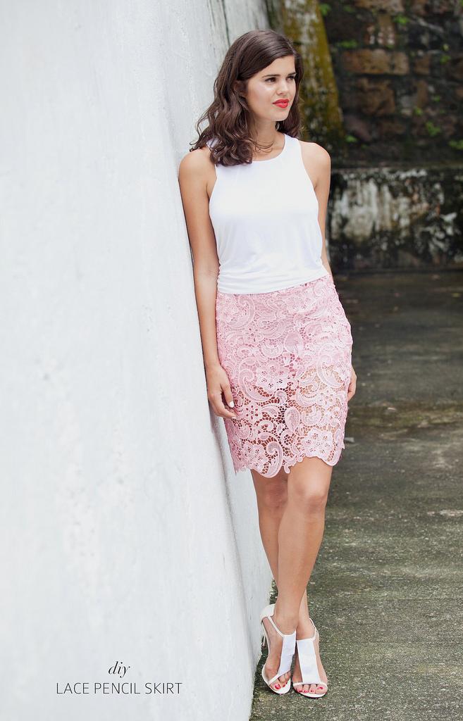 Сделать летом кружева юбка www.apairandasparediy.com