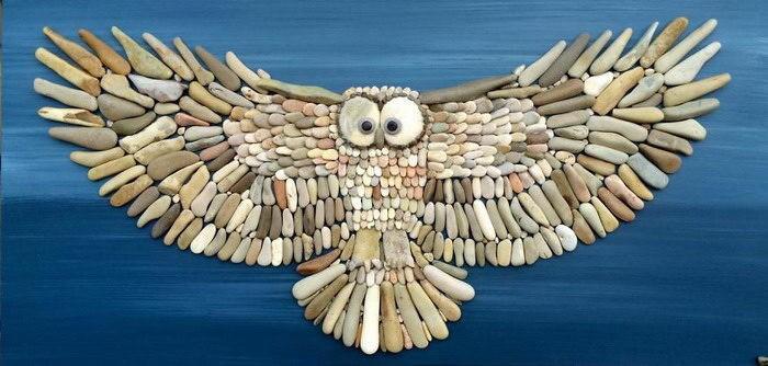 Креативные картинки из пляжных камней Стефано Фурлани - В ...