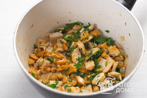 Творожные булочки с курицей и лисичками фото к рецепту 7