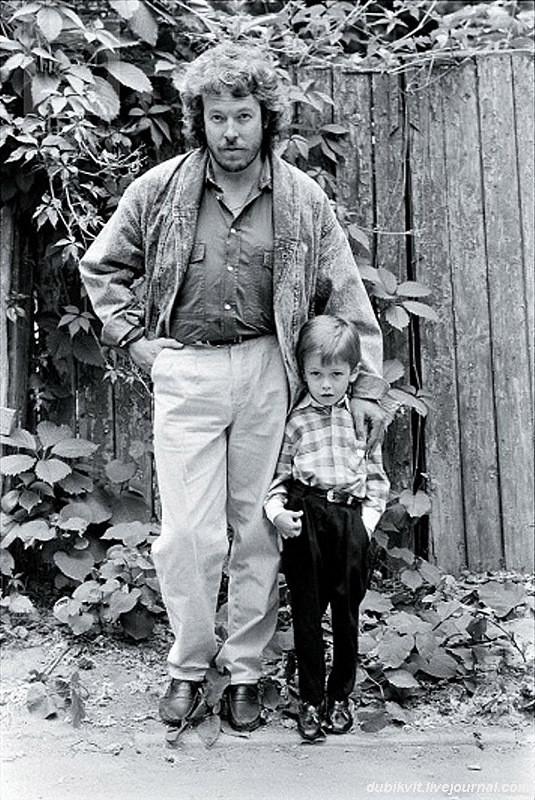 Андрей Макаревич с сыном Иваном семья, слушают, фото