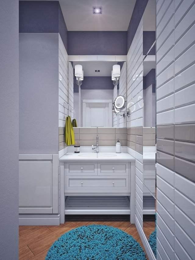 Стильный дизайн современной ванной комнаты